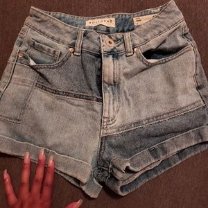 High waist denim shorts, 90's style